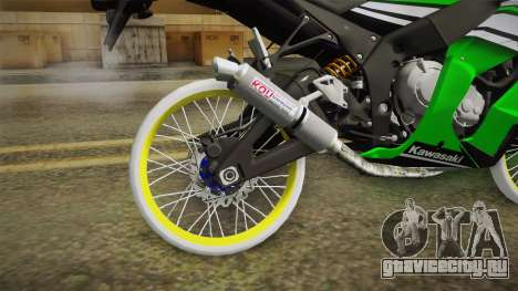 Kawasaki ZX10 R R17 для GTA San Andreas вид сзади