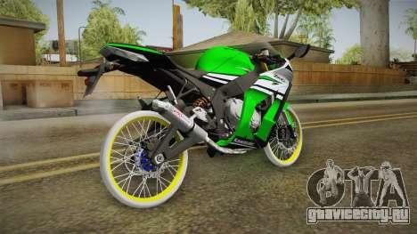 Kawasaki ZX10 R R17 для GTA San Andreas вид слева