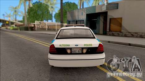 Ford Crown Victoria 2007 Altoona PD для GTA San Andreas вид сзади слева