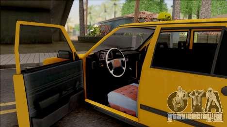 Tofas Sahin Taxi 1999 v2 для GTA San Andreas вид изнутри