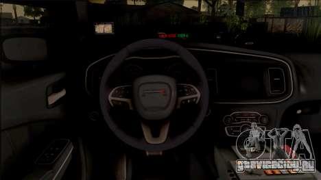 Dodge Charger Unmarked 2015 для GTA San Andreas вид изнутри