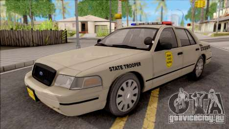 Ford Crown Victoria 2003 Iowa State Patrol для GTA San Andreas