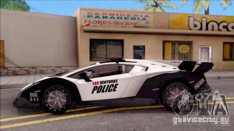 Lamborghini Veneno Police Las Venturas для GTA San Andreas вид слева