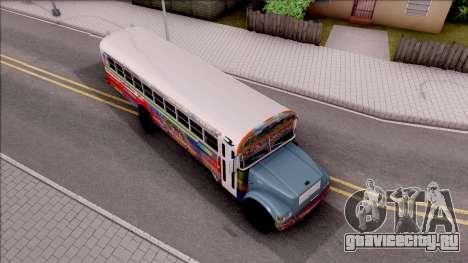 Diablo Rojo Panama Blue Bird для GTA San Andreas вид справа
