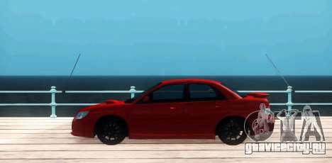 Subaru Impreza WRX Hawkeye Baby Driver v.1 для GTA San Andreas вид слева