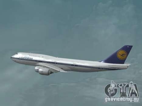 Авиакомпания Lufthansa 747-8и Ретро-ливрее для GTA San Andreas вид слева