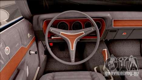 Plymouth GTX Cabrio 1972 для GTA San Andreas вид изнутри