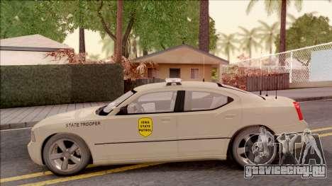 Dodge Charger Gold 2007 Iowa State Patrol для GTA San Andreas вид слева