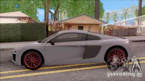 Audi R8 V10 Plus 2018 EU Plate для GTA San Andreas вид слева