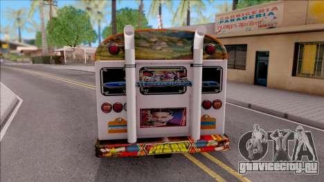 Diablo Rojo Panama Blue Bird для GTA San Andreas вид сзади слева