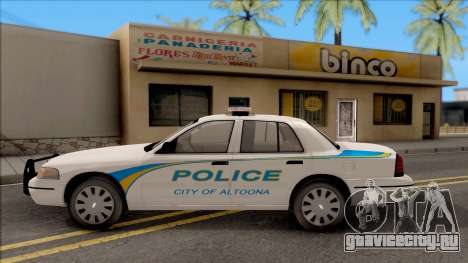 Ford Crown Victoria 2007 Altoona PD для GTA San Andreas вид слева