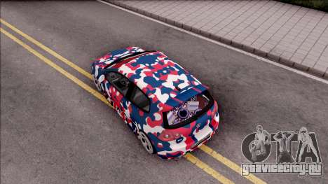 Volkswagen Golf BK GARAGE для GTA San Andreas вид сзади