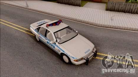 Chevrolet Caprice Police NYPD для GTA San Andreas вид справа