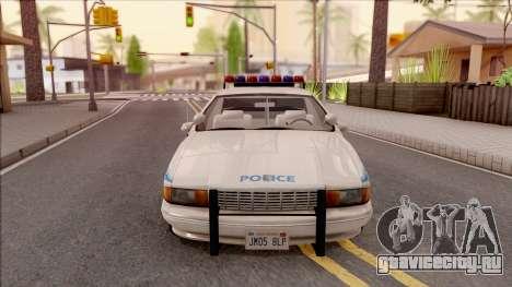 Chevrolet Caprice Police NYPD для GTA San Andreas вид изнутри