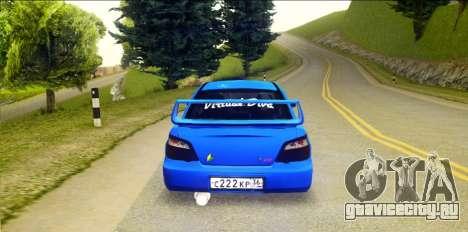 Subaru Impreza WRX STi 2004 (Virtual Diva) для GTA San Andreas