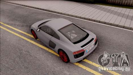 Audi R8 V10 Plus 2018 EU Plate для GTA San Andreas вид сзади
