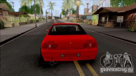 Nissan Skyline R32 Drag v2 для GTA San Andreas вид сзади слева