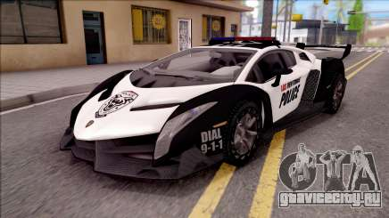 Lamborghini Veneno Police Las Venturas для GTA San Andreas