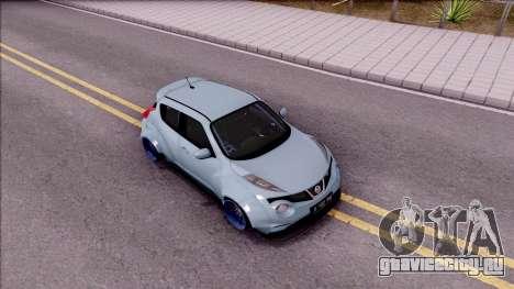 Nissan Juke Nismo RS 2014 Rocket BOUNNY Custom для GTA San Andreas вид справа