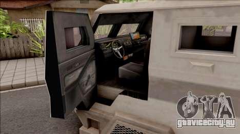 GTA EFLC HVY Brickade для GTA San Andreas вид изнутри