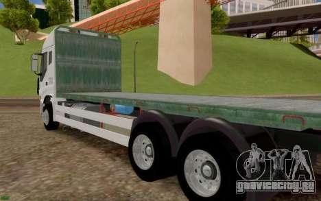 Ивеко Стралис Бортовой грузовик нет дополнительн для GTA San Andreas вид сзади слева