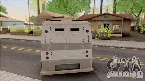 GTA EFLC HVY Brickade для GTA San Andreas вид сзади слева