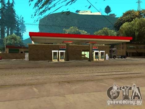 Exxon Gas Station для GTA San Andreas второй скриншот