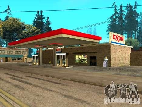 Exxon Gas Station для GTA San Andreas