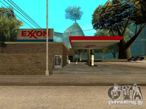 Exxon Gas Station для GTA San Andreas третий скриншот