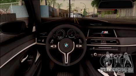 BMW M5 F10 Competition Edition для GTA San Andreas вид изнутри