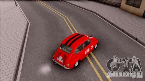 Zastava 750c для GTA San Andreas вид сзади