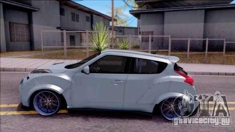 Nissan Juke Nismo RS 2014 Rocket BOUNNY Custom для GTA San Andreas вид слева