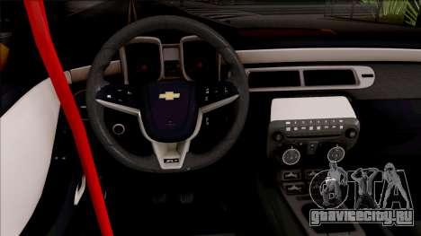 Chevrolet Camaro ZL1 Ngasal Works Kit для GTA San Andreas вид изнутри