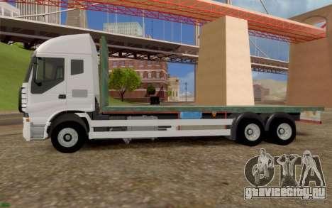 Ивеко Стралис Бортовой грузовик нет дополнительн для GTA San Andreas вид слева