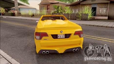 HSV Limited Edition GEN-F GTS Maloo v1 2014 для GTA San Andreas вид сзади слева