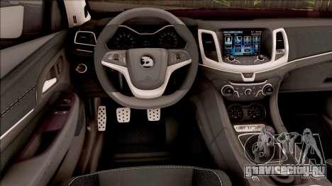 HSV Limited Edition GEN-F GTS Maloo v1 2014 для GTA San Andreas вид изнутри