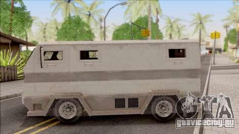 GTA EFLC HVY Brickade для GTA San Andreas вид слева