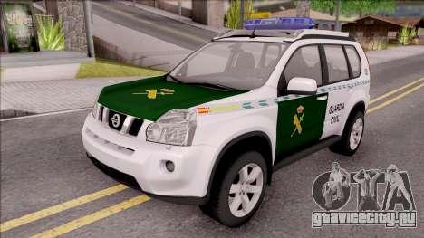 Nissan X-Trail Guardia Civil Spanish для GTA San Andreas