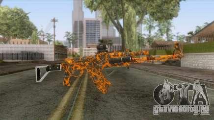 CoD: Black Ops II - AK-47 Lava Skin v1 для GTA San Andreas