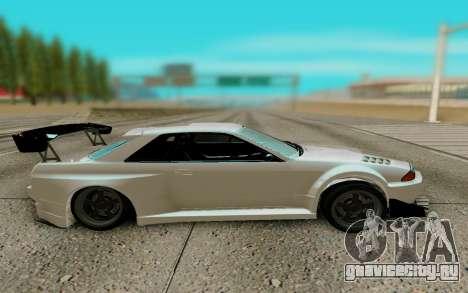 Nissan Skyline R32 GTR для GTA San Andreas вид слева