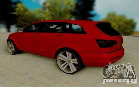 Audi Q7 для GTA San Andreas вид сзади слева