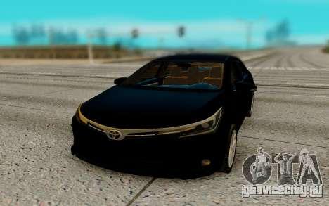 Toyota Corolla 2017 для GTA San Andreas вид сзади