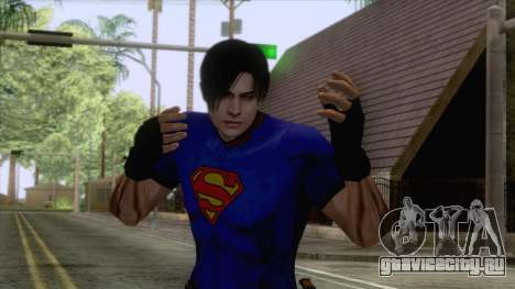 Leon Superman Cloth Skin для GTA San Andreas