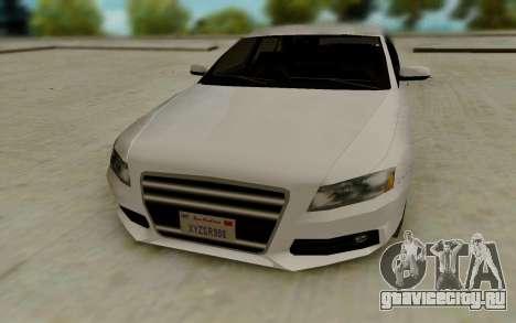 Audi A4 для GTA San Andreas вид сзади