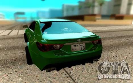 Toyota Mark X для GTA San Andreas вид сзади слева