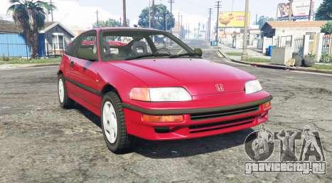 Honda CR-X (EF) 1991 для GTA 5