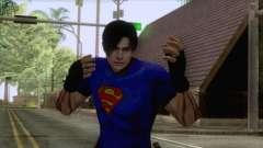 Leon Superman Cloth Skin для GTA San Andreas