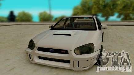 Subaru Impreza белый для GTA San Andreas