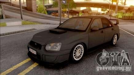 Subaru Impreza WRX STi серебристый для GTA San Andreas