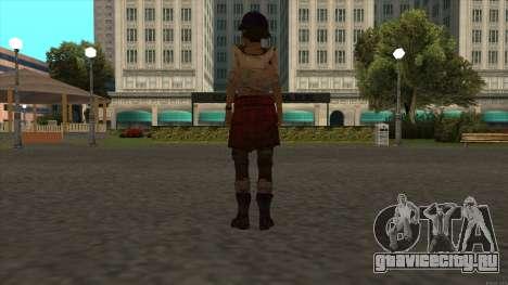 Clementine from The Walking Dead - season 3 для GTA San Andreas четвёртый скриншот